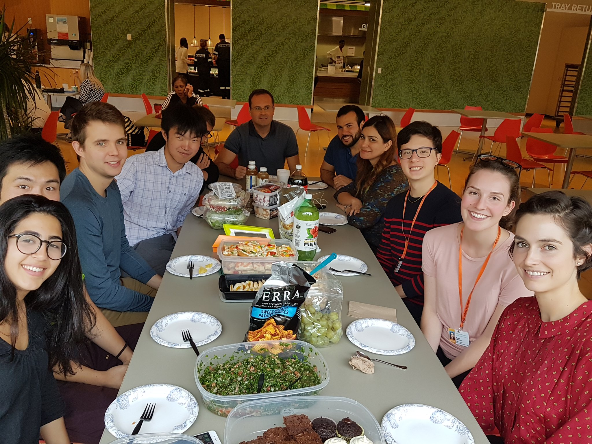 Propel team having a potluck lunch