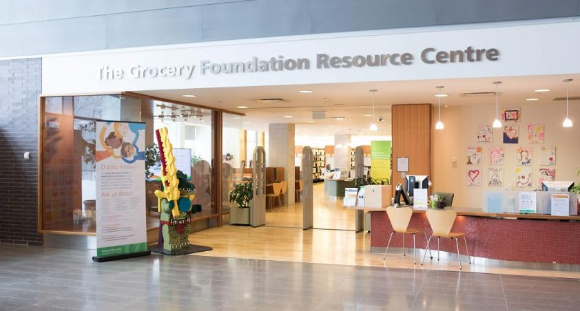 Entrance to the Grocery Foundation Resource Centre