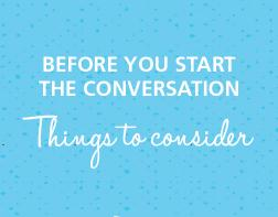 Before You Start the Conversation