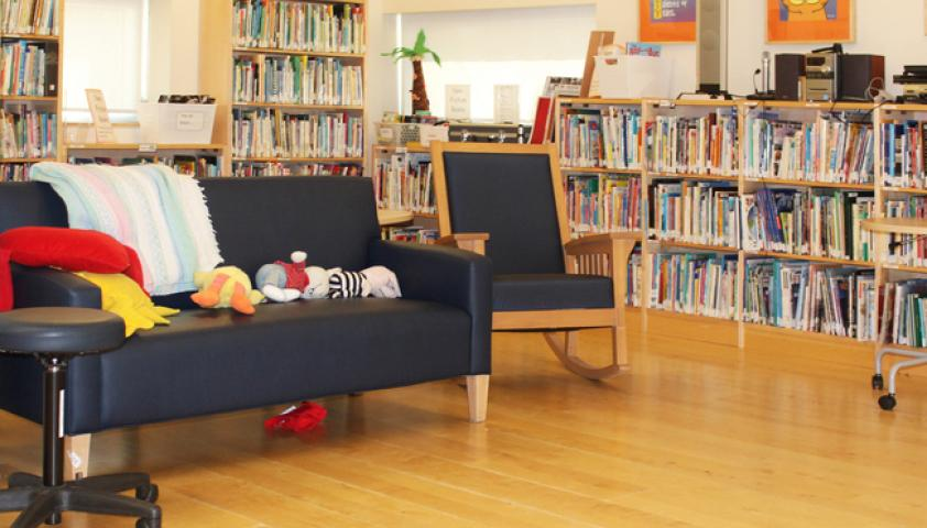 A fully accessible library where all students learn the joy of reading