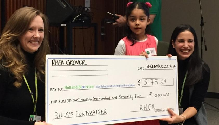This fundraising rock star Rhea is our hero!
