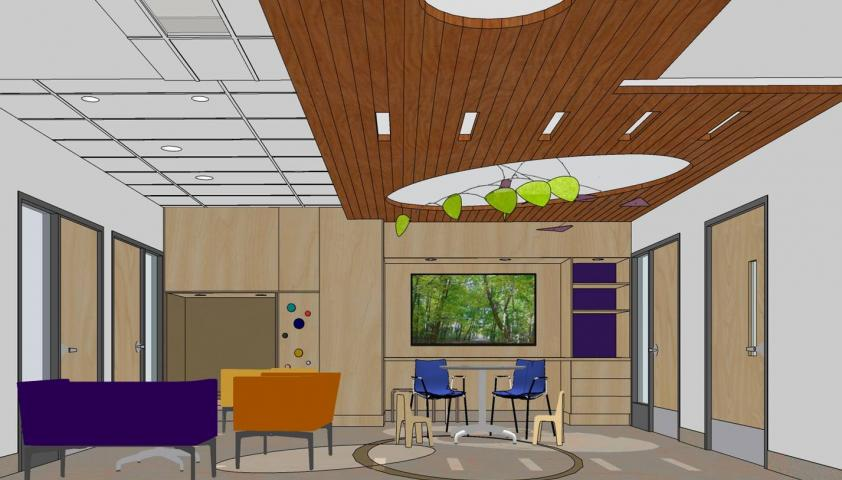 MRI waiting room rendering