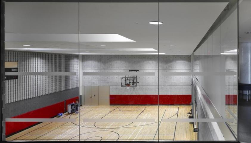 The gym is primarily used by the Bloorview school and inpatient programs