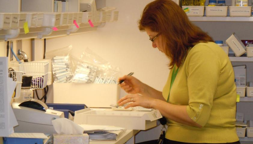 Pharmacy Technicians provide unit dose drug distribution services to inpatients at the hospital