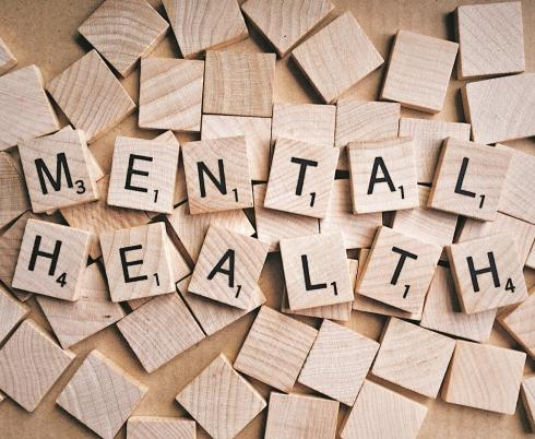 mental health spelled out in wooden tiles