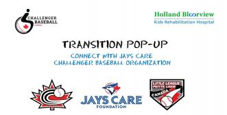 transitions banner for Jays Care event